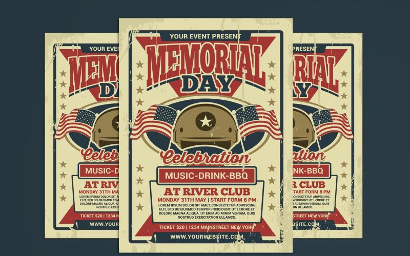 Memorial Day Flyer Vorlage