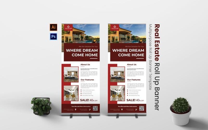 Modern Estate Roll Up Banner