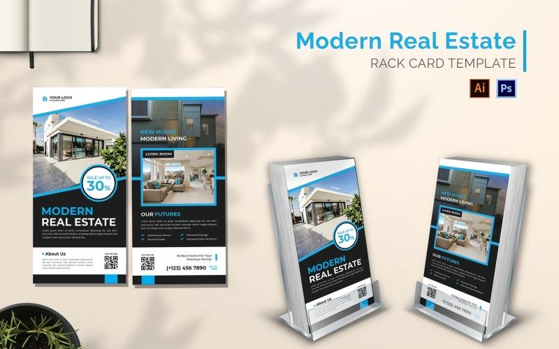 Moderne Immobilien-Rack-Kartenbroschüre