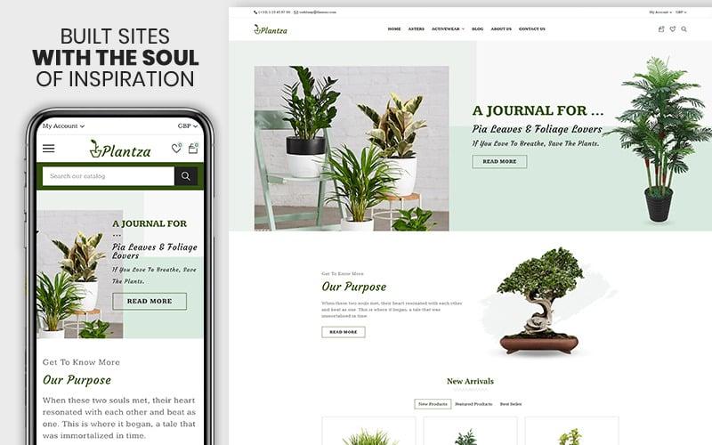 Plantza - Das Premium Shopify-Thema für pflanzliche und biologische Lebensmittel