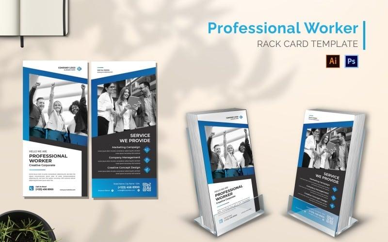 Professional Worker Rack Card Broschüre