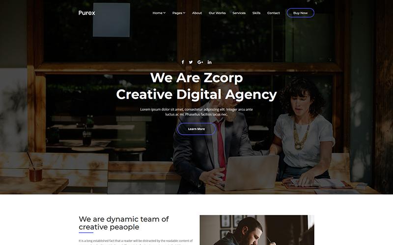 Purex - Website-Vorlage der Kreativagentur