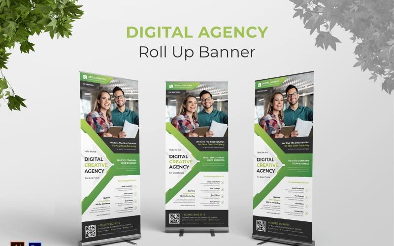 Roll-up-Banner der digitalen Agentur