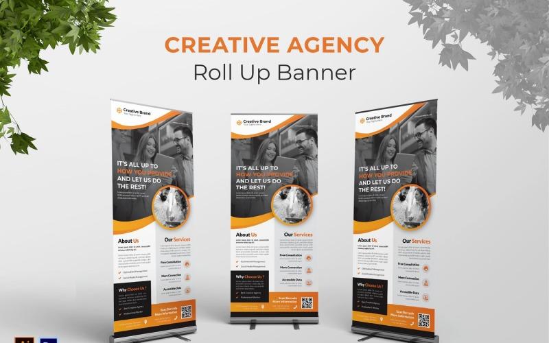 Roll-up-Banner der Kreativagentur
