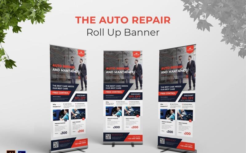 Rollup-Banner für die automatische Reparatur