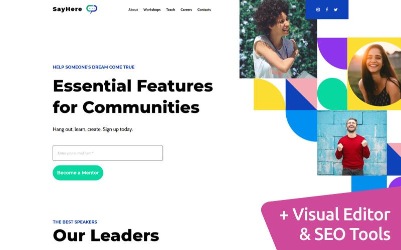 社区高级Moto CMS网站设计
