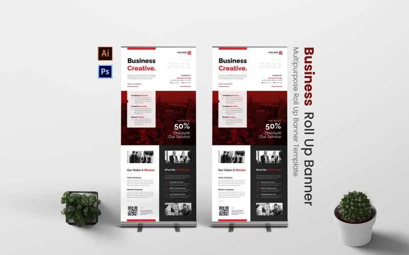 Business Creative Roll Up Banner