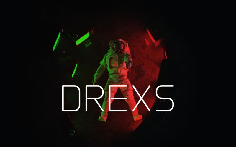 Drexs-Schrift - Futuristische Schriftarten