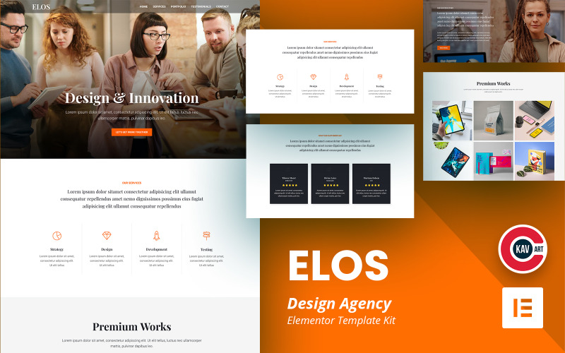 Elos - Kit Elementor per agenzia di design
