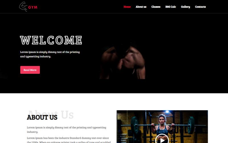 Fitness - Modello di sito Web HTML Bootstrap pulito pronto per l'uso