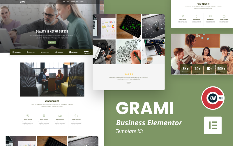 Grami - Business Elementor Kit