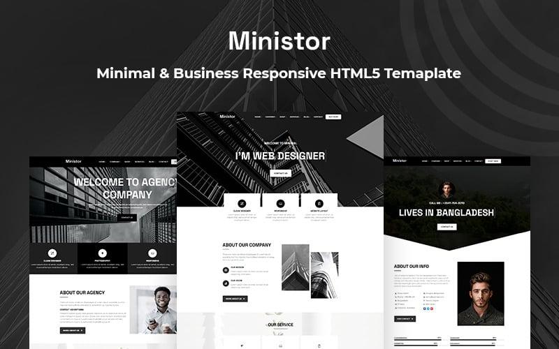 Ministor - Minimal & Business Responsive HTML5-Website-Vorlage