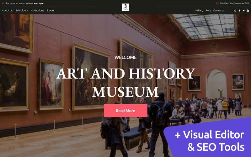 Modèle de site Web Moto CMS d'exposition