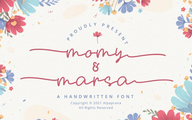 Momy & Marsa - Handschriftliche Schriften