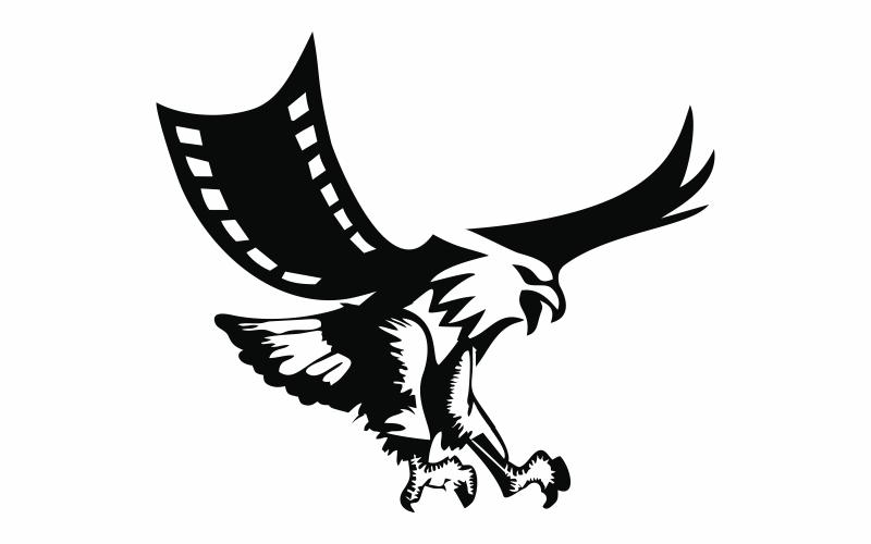 Movie Eagle Abstrakte Logo-Vorlage