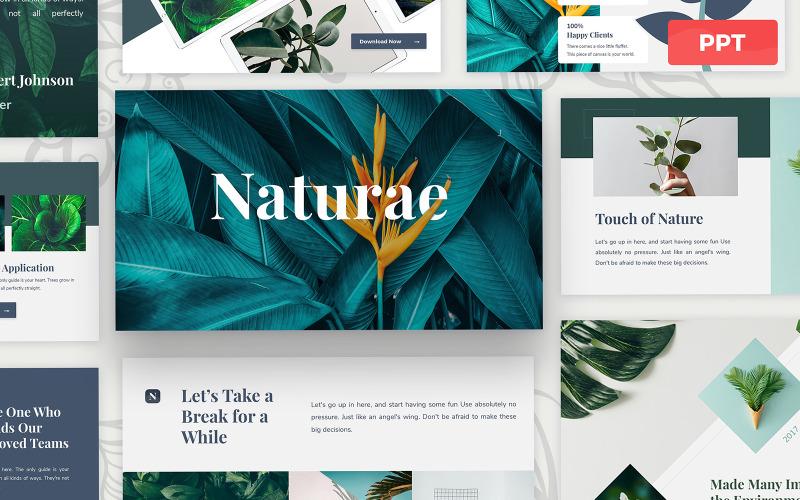 Naturae - Modèle de présentation Powerpoint