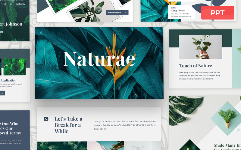 Naturae - Powerpoint-Präsentationsvorlage