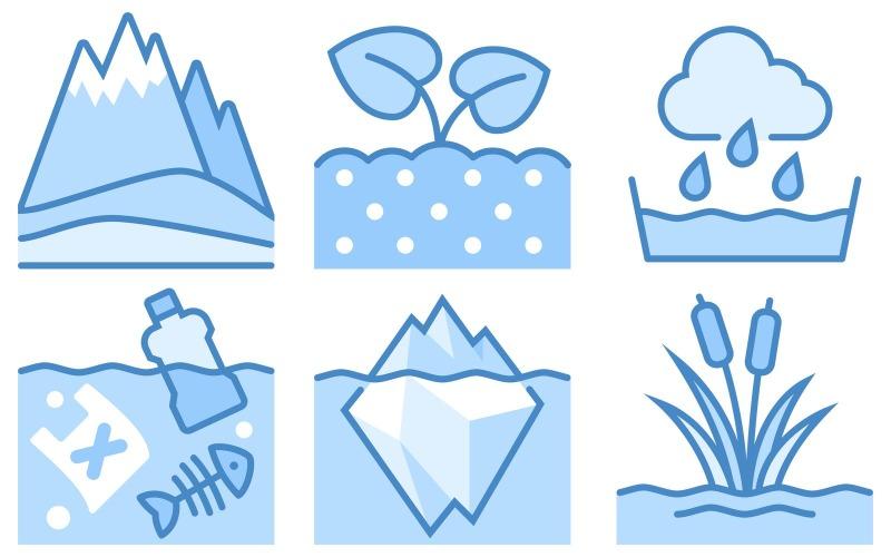 Nature Icon Pack im blauen UI-Stil