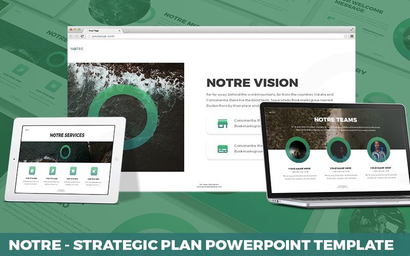 Notre - Strategischer Plan Powerpoint-Vorlage