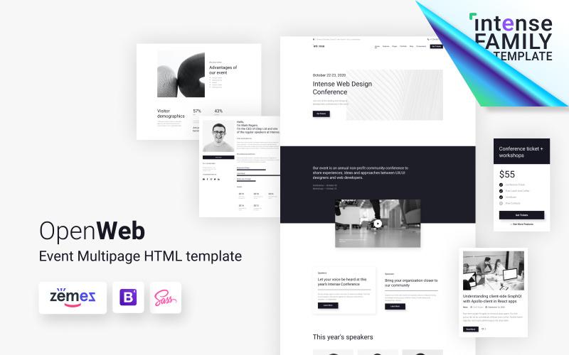 OpenWeb - Modèle de site Web de conférence simple
