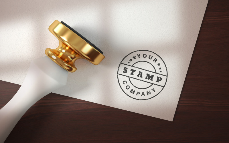 Papierfirma mit einem Logo - Produktmodell