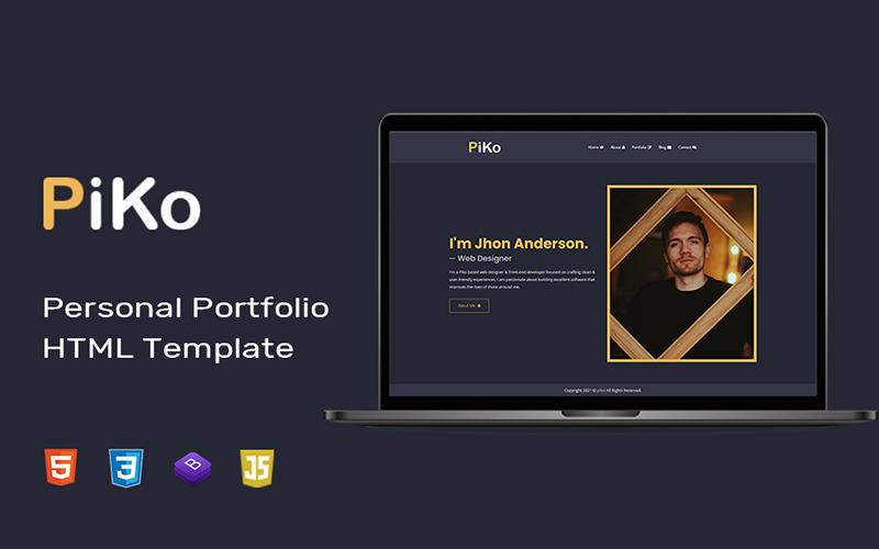 Piko - Persönliche Portfolio HTML Landing Page Vorlage