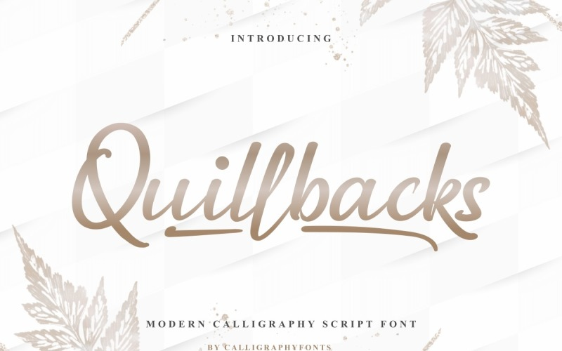 Quillbacks Handschrift Schrift