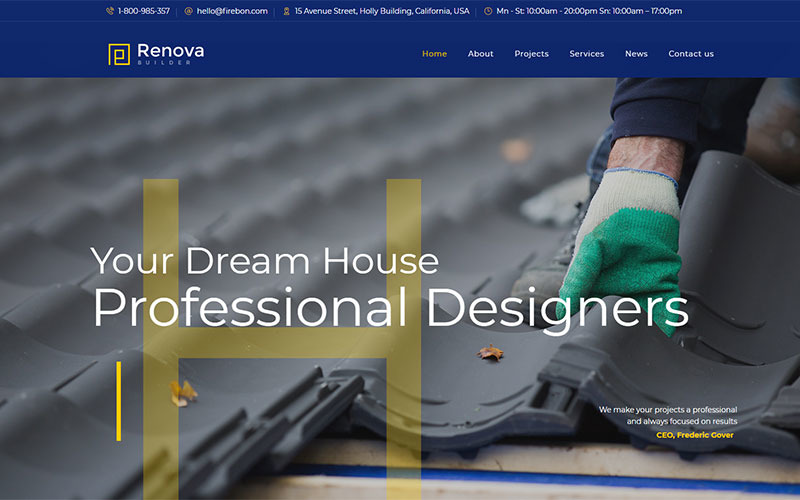 Renova - Construction & Building WordPress Theme