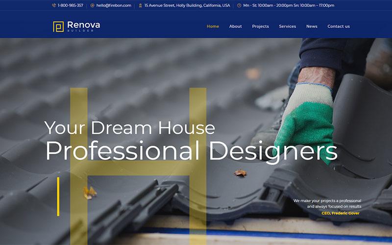 Renova - Thème WordPress pour la construction et la construction
