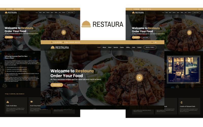 Restaura - Modèle Bootstrap 5 de page de destination de restaurant