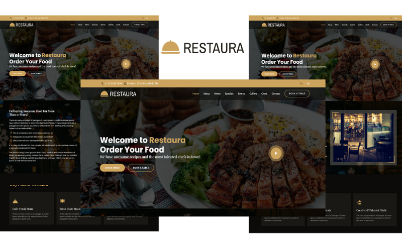 Restaura - Restaurant Landing Page Bootstrap 5 Template