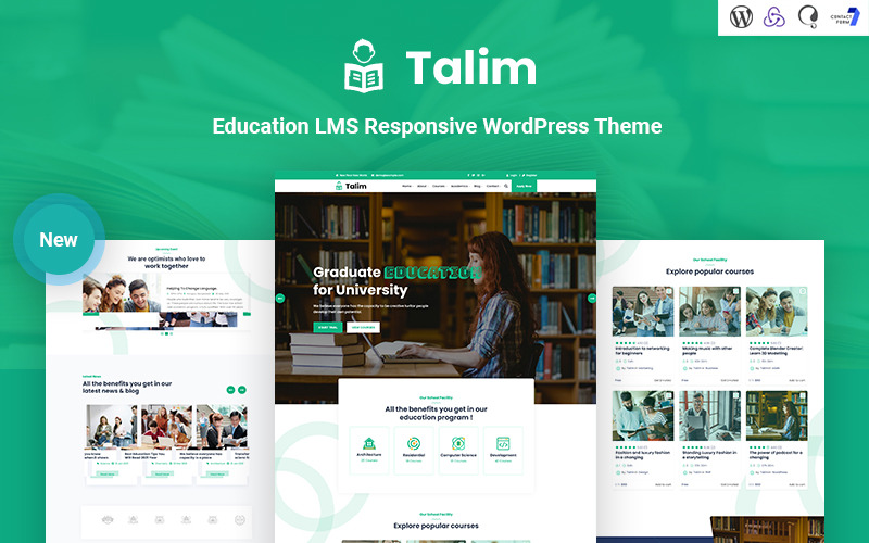 Talim - Thème WordPress réactif pour l'éducation LMS