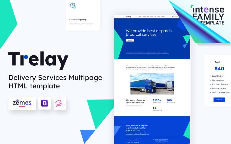 Trelay - Modello di sito web per società di spedizioni online