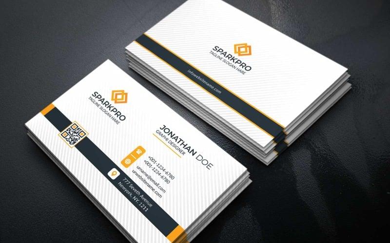 Visitenkarte Sparkpro Corporate Identity-Vorlage