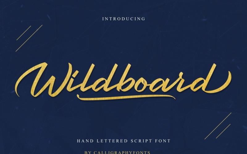 Wildboard Brush Kalligraphie Schriftart