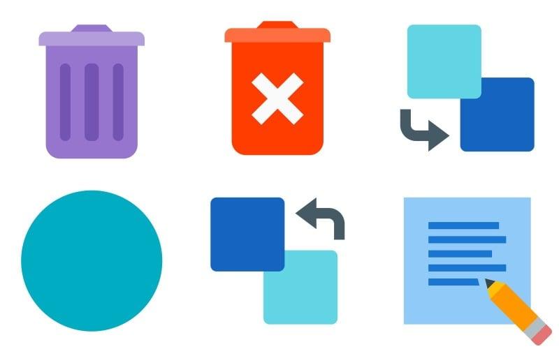 Bearbeiten des Icon Packs im Farbstil