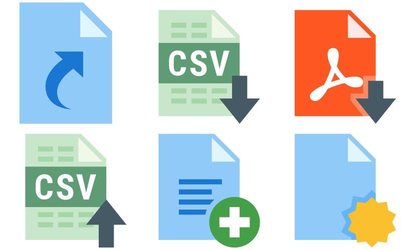 Dateien Icon Pack im Farbstil