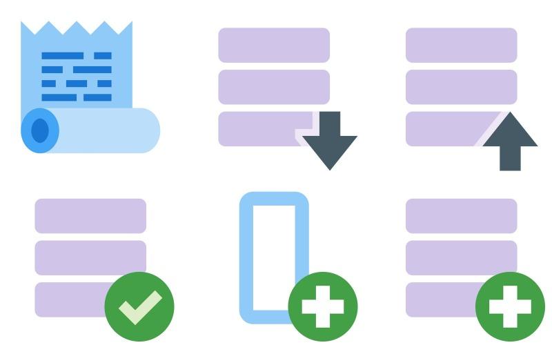Datensymbolpaket im Farbstil