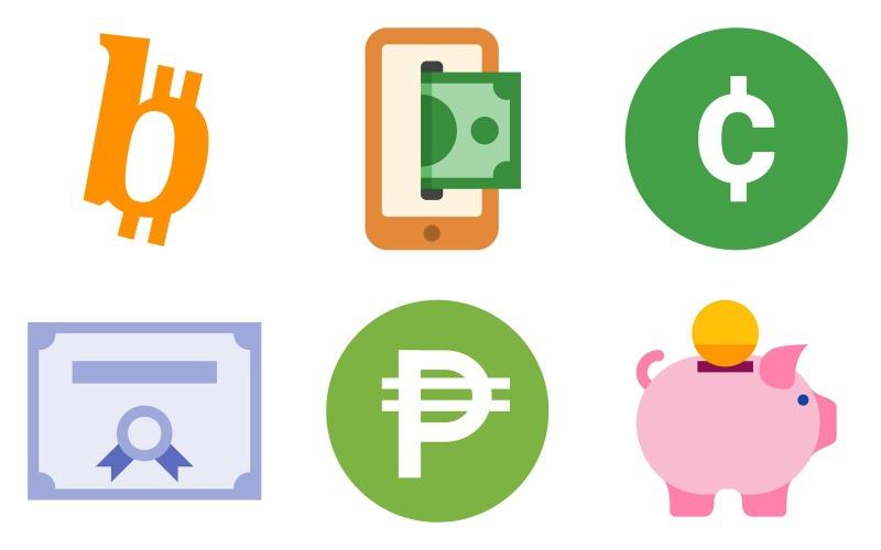 Finance Icon Pack im Farbstil