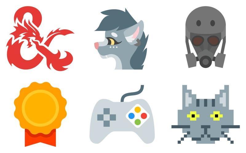 Gaming Icon Pack im Farbstil