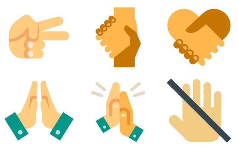 Hands Icon Pack im Farbstil