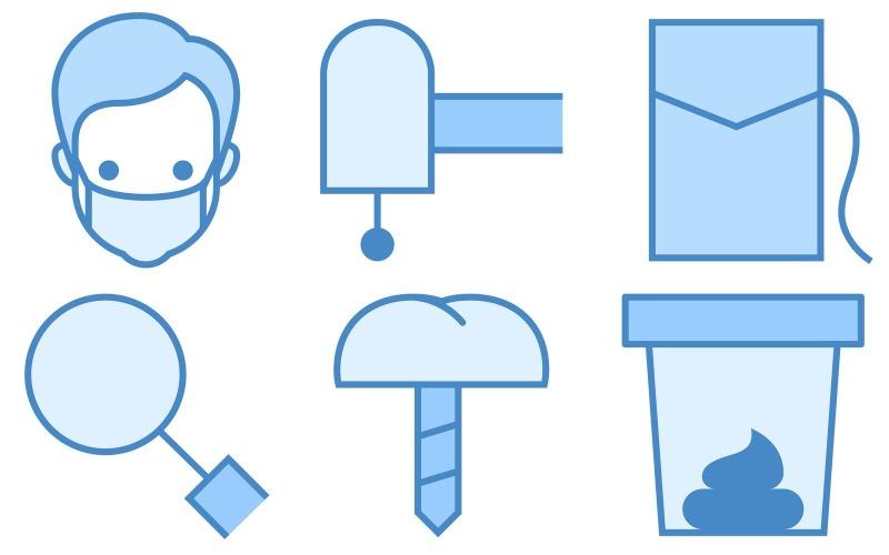 Healthcare Icon Pack im blauen UI-Stil
