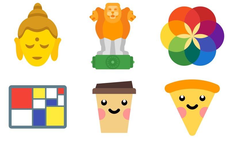 Kultur-Icon-Pack im Farbstil