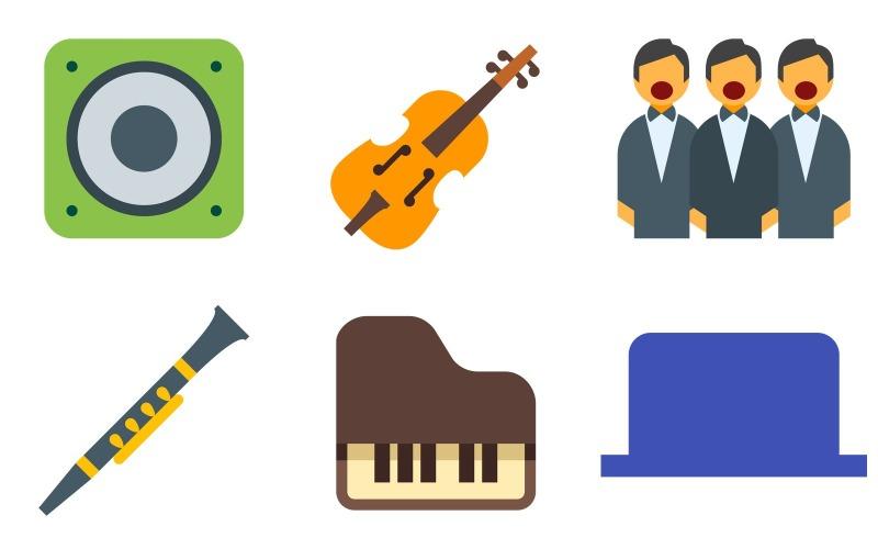 Musik-Icon-Pack im Farbstil