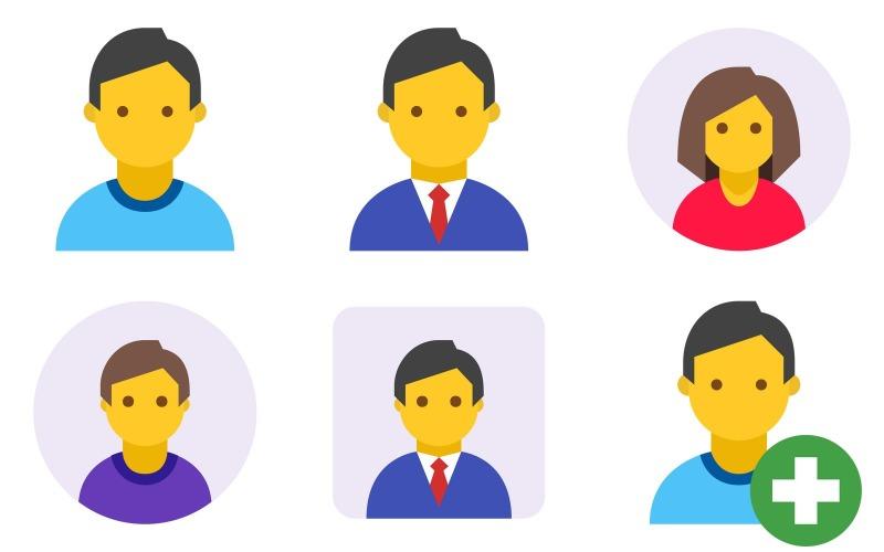 Profil Icon Pack im Farbstil