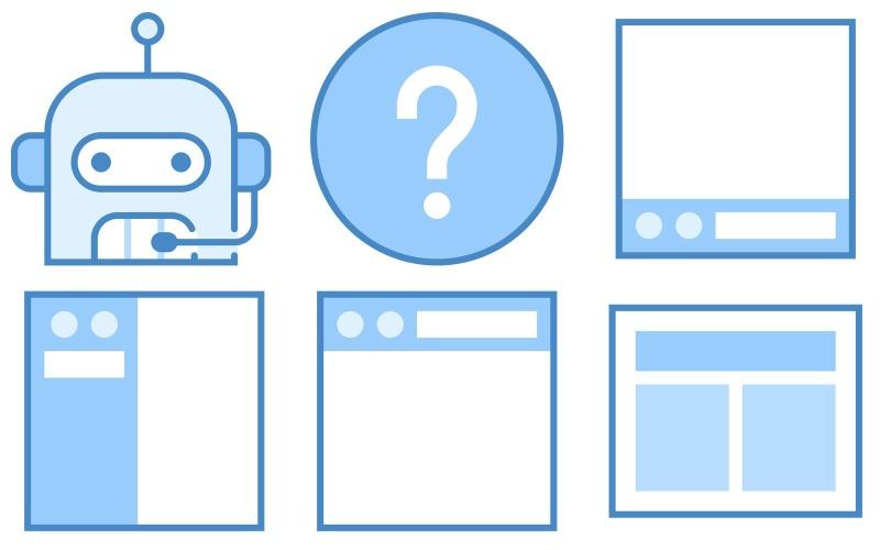 Programmieren von Icon Pack im blauen UI-Stil