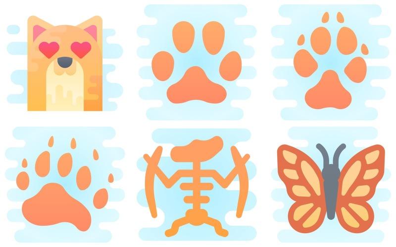 Animals Icon Pack im niedlichen Clipart-Stil