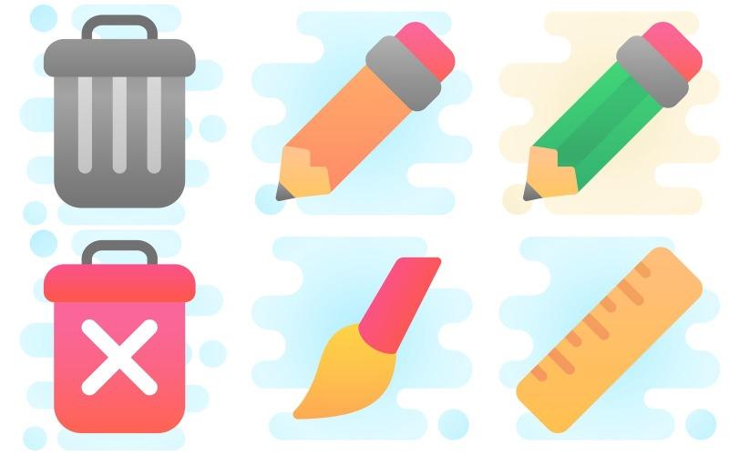 Bearbeiten des Icon Packs im niedlichen Clipart-Stil