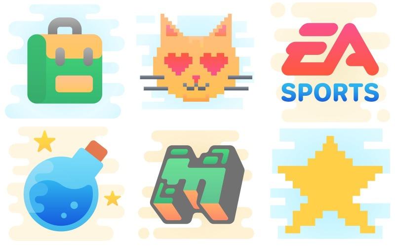 Gaming Icon Pack im niedlichen Clipart-Stil