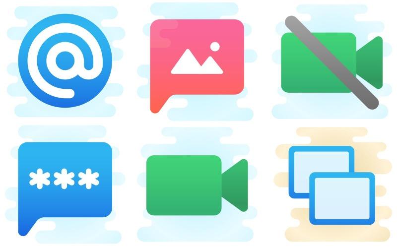 Mobiles Icon Pack im niedlichen Clipart-Stil